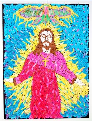 Jesus made of peeps