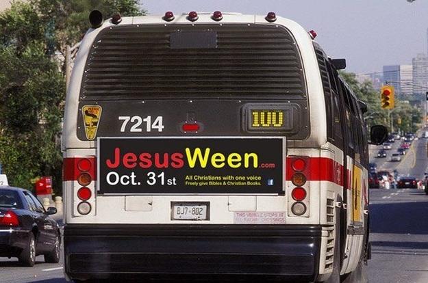 JesusWeen bus ad