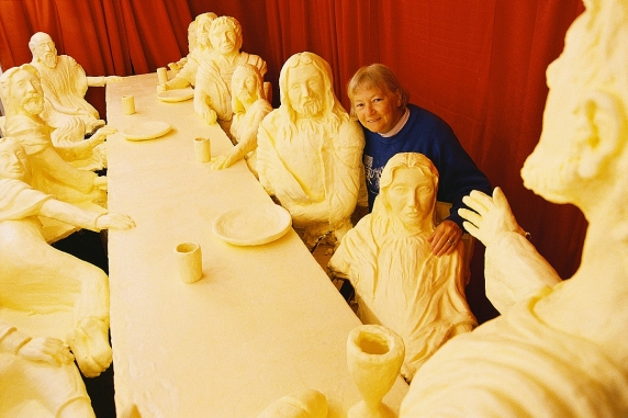The Last Supper made out of butter