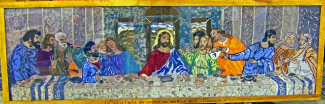 The Last Supper made out of lint