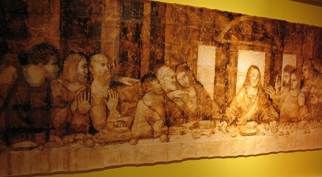 The Last Supper made out of toast