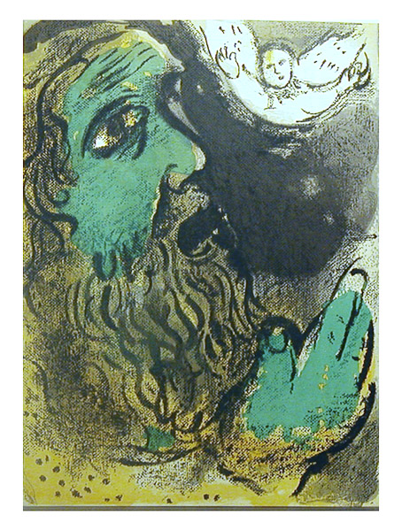 Job at Prayer by Marc Chagall