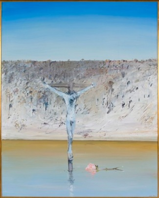 """Crucifixion and Rose"" by Arthur Boyd"