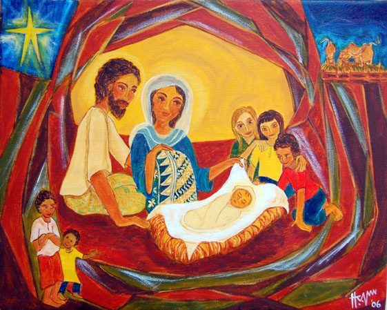nativity paintings from around the world