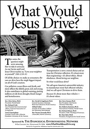 What Would Jesus Drive campaign ad