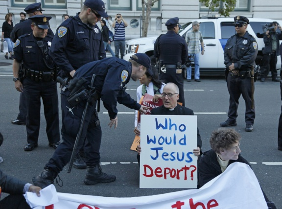 Who Would Jesus Deport? protest