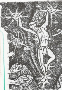 Dancing Jesus crucified