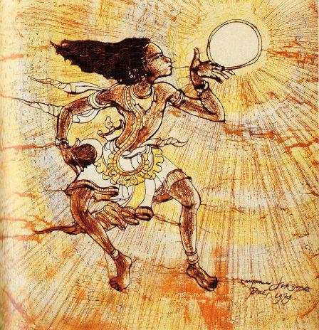 Jesus dancing at Creation