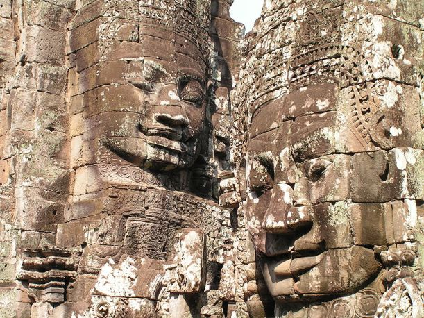 Smiling faces. Angkor Wat complex, Siem Reap, Cambodia.