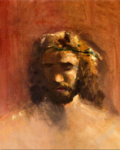 Thomas Kinkade Head of Christ