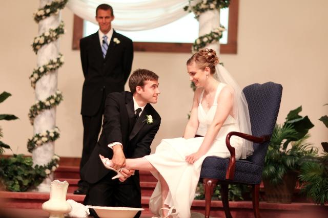Foot-washing at wedding