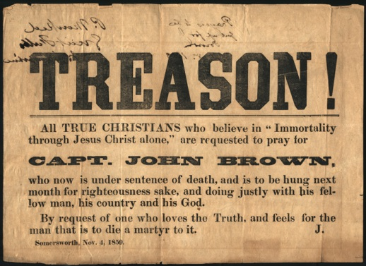 John Brown treason poster