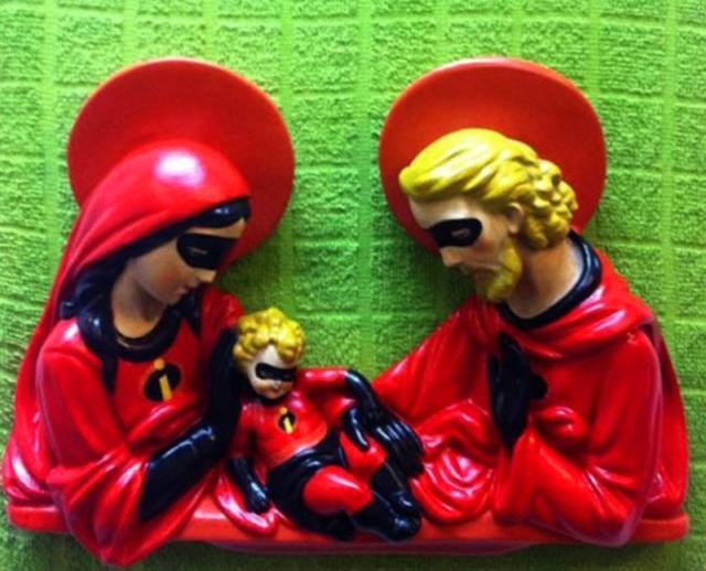 The Holy Family as the Incredibles by Igor Scalisi Palminteri