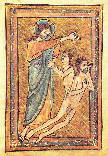 Creation of Eve, medieval illumination