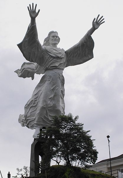 Jesus statue in Indonesia