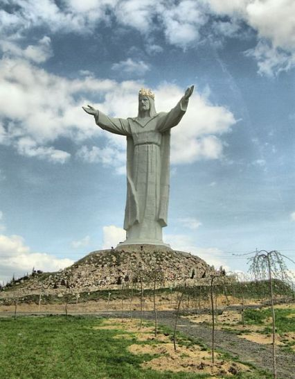 Christ the King statue in Poland