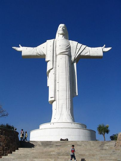 Christ of Peace statue in Bolivia