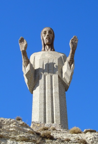 Jesus statue in Spain