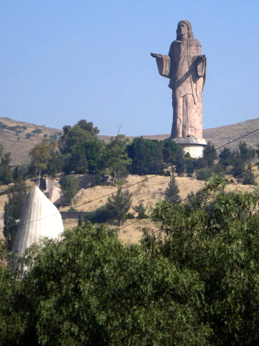 Jesus statue in Mexico