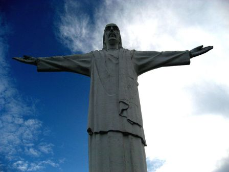 Jesus statue in Colombia
