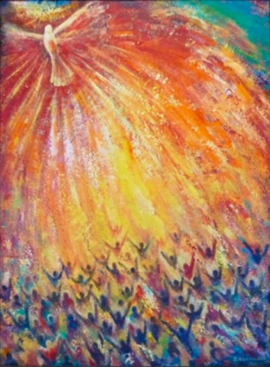 """Pentecost"" by Veronica Dimae"