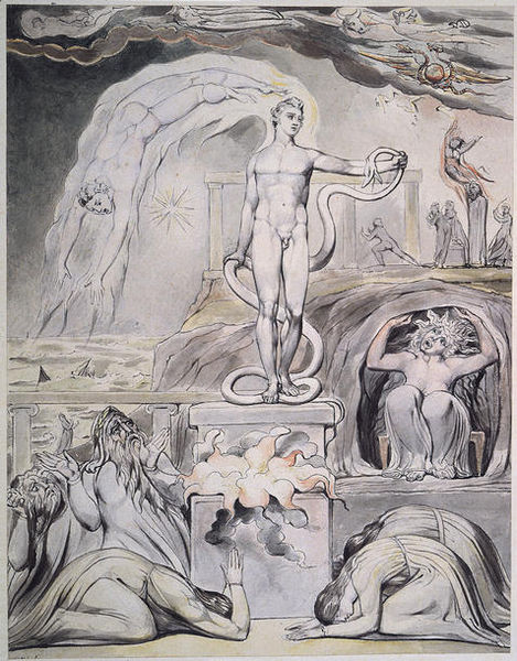 The Overthrow of Apollo by William Blake
