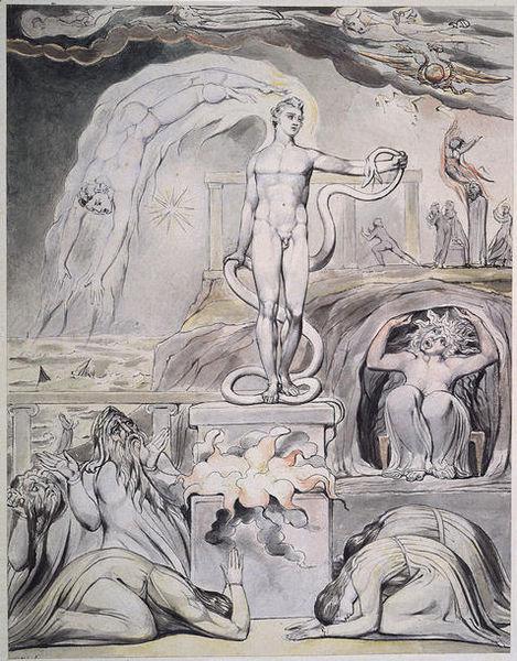 The Overthrow of Apollo by William Blake
