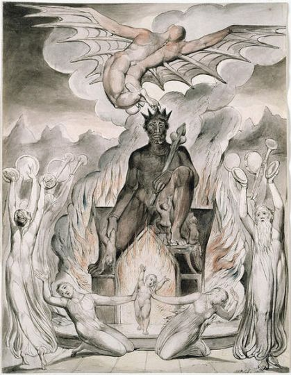 The Flight of Moloch by William Blake