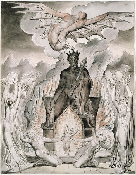 The Flight of Moloch by William Blake