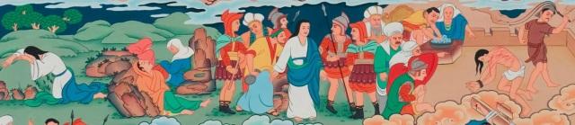 Tibetan Jesus (Gethsemane, Arrest, Flogging)