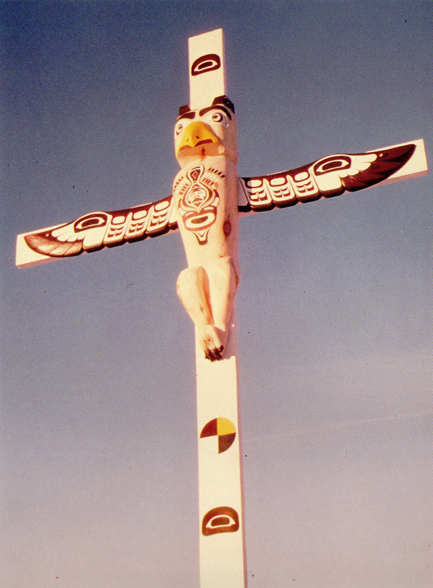 jesus as thunderbird a totem pole crucifix by stanley peters