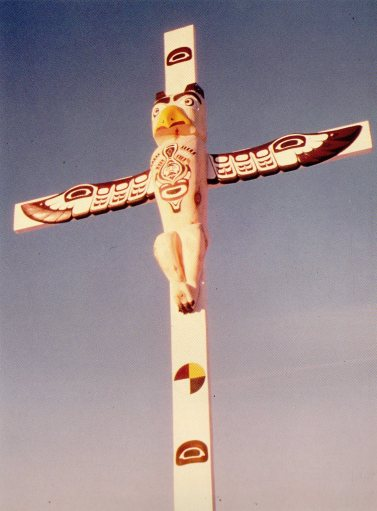 Jesus totem pole