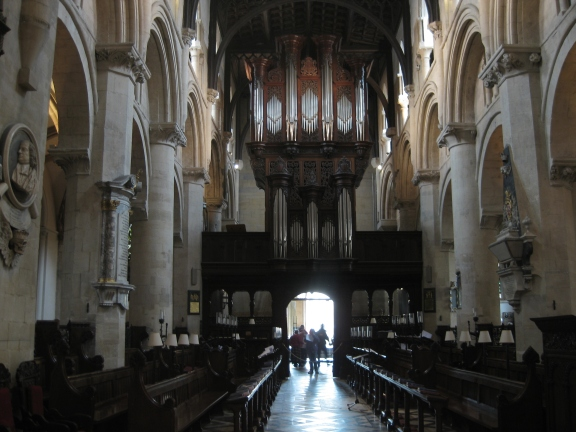 Christ Church Cathedral interior, west end