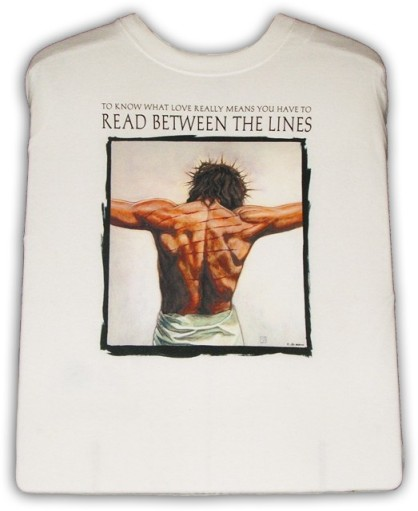 Read between the lines Jesus t-shirt