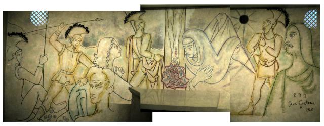 Cocteau crucifixion mural