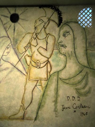 Cocteau crucifixion mural (detail)