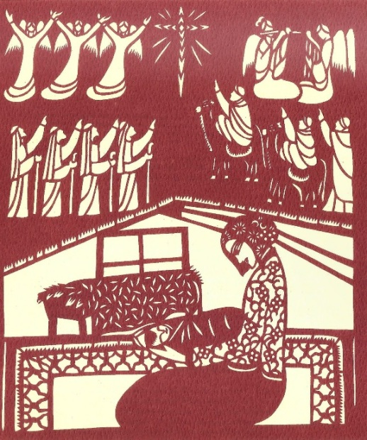 Fan Pu, The Nativity, 2002. Chinese papercut.
