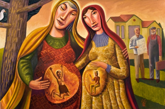 James B. Janknegt, The Visitation, 2008. Oil on canvas, 36 x 24 in.
