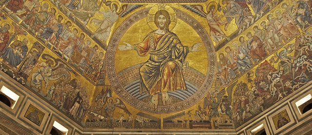 Christ in Majesty, Baptistery of St. John, Florence, Italy.