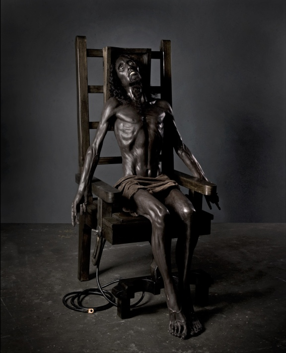 Paul Fryer's Christ in an electric chair