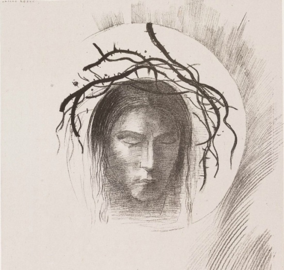 Head of Christ by Odilon Redon