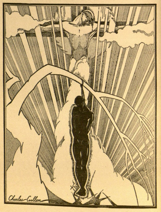 Illustration by Charles Cullen. Frontispiece to Countee Cullen's The Black Christ and Other Poems, 1929.