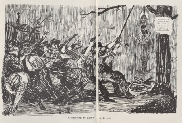 """Christmas in Georgia, A.D., 1916,"" by Lorenzo Harris. Originally published in The Crisis, December 1916, pp. 78-79."