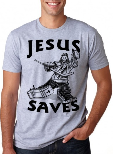 T-shirt_Jesus saves (hockey)