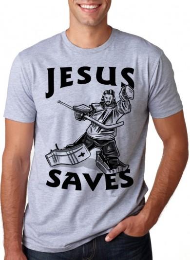 T-shirt_Jesus saves (hockey)