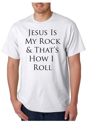 T-shirt_Jesus is my rock