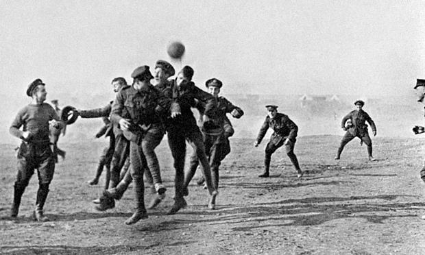 Christmas truce soccer match