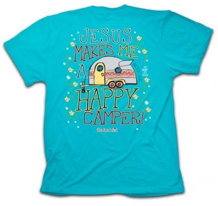 Jesus happy camper