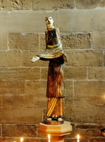 Peter Eugene Ball, Light of the World, 1990. Wood sculpture covered in copper and embellished with silver and gold leaf. Southwell Minster, Nottinghamshire, England. Source: http://www.petereball.com/wp-content/gallery/religious/light-of-the-world-southwell-1990.jpg