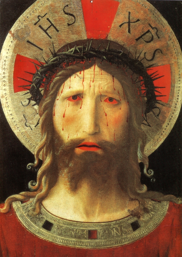 Fra Angelico, Christ Crowned with Thorns, 1450s. Tempera and gold on panel. Livorno Cathedral, Italy. Source: http://commons.wikimedia.org/wiki/File:Beato_angelico,_Cristo_coronato_di_spine,_livorno,_1420_circa.jpg